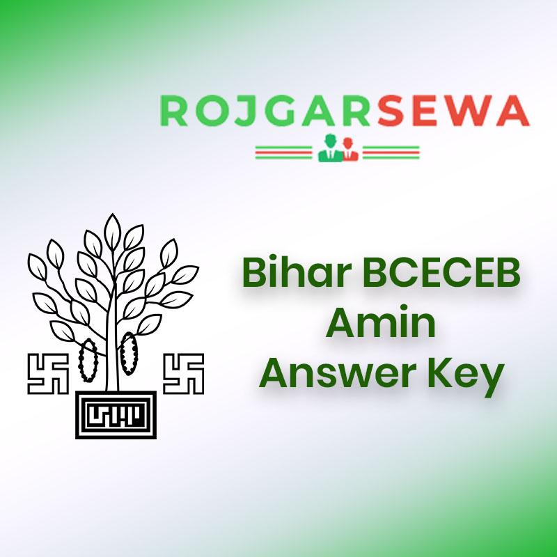 Bihar BCECEB Amin Answer Key